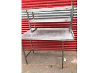Stainless Steel Preparation Table with Heating Plates