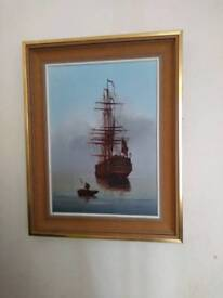Original maritime oil painting by Les Spence
