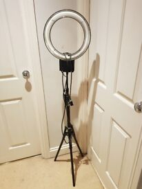 Photography ring light with stand