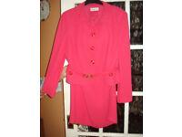 CONDICI SUIT CERISE SIZE 14 FULLY LINED,ELASTICATED WAIST EXCELLENT CONDITION