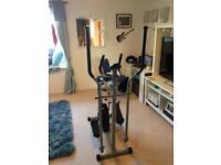 2-in-1 Cross Trainer/Exercise Bike