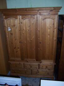 Pine triple wardrobe at Cambridge Re-Use (cambridge reuse)