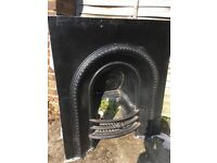 Old Victorian period iron fireplace