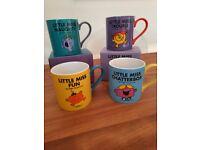 4 BNIB Little Miss Mugs