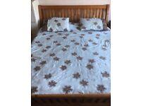 Pine Bedstead Super Kingsize. Memory foam mattress free if desired. All under £100