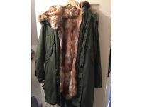 Parka with real fox fur
