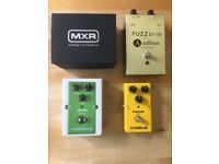 Guitar Pedals For Sale: MXR Micro Flanger, Ashbass Fuzzbrite, NUX Chorus & NUX Overdrive