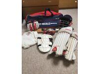 Cricket equipment youths inc bat, bag, helmet and more