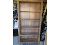 ikea wooden shelving unit bookcase