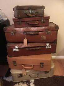 SELECTION OF VINTAGE SUITCASES FROM £8