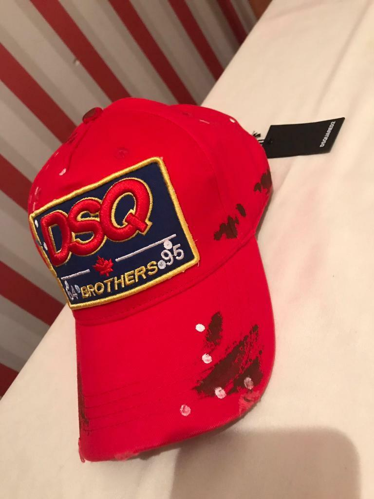 DSQUARED2 DSQ BROTHERS BASEBALL CAP RED (NEW WITH TAGS) 5ad026069f2