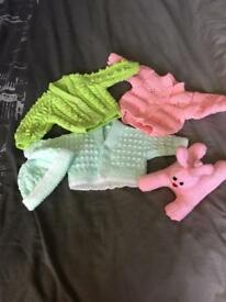 Hand knitted toys/cushions/baby clothes