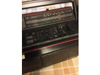 Hitachi twin cassette radio retro guetto blaster gwo