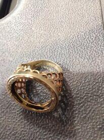 9ct gold full sov ring mount
