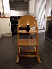 BabyDan Wooden High Chair