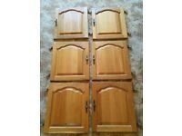 6 x oak kitchen doors