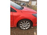 Ford Focus Drivers wing red