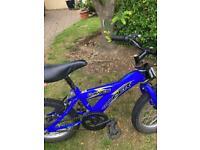 Blue mini bike