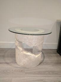 Unique Designer fossil stone side table