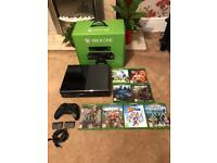 Xbox one 500gb black with Kinect + 8 games boxed £200 Ono
