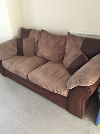 DFS 3 seater sofa and 2 chairs