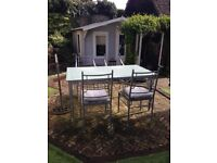 Quality Garden Patio Furniture Table + 4 Chairs JOHN LEWIS HAND FORGED V HEAVY