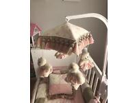 Glenda Jean Luxurious Baby Cot Bedding & accessorise 9 pieces