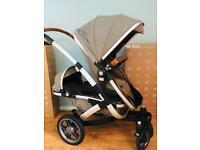 Joolz Geo twin pram with extra Carrycot for newborn