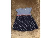 Ladybird denim summer dress 6-9 Months