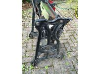 Pre-war cast iron mangle, would make excellent base for a garden/patio table
