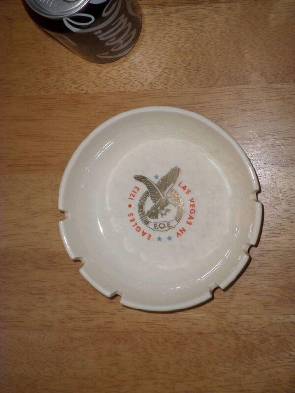 EAGLES F.O.E. # 1213 - LAS VEGAS, NEVADA, Ceramic Ashtray, VINTAGE