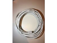 Brand new Coaxial 10m TV/AV Aerial Cable Male to Male White