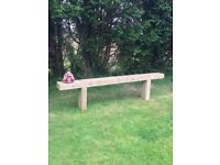 Extra large garden sleeper benches
