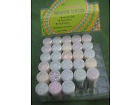 28 Brand New Containers of Assorted Aroma/Decoration Beads - 10 containers for £5.00