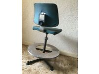 Vintage industrial work chair 1970 era