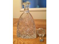Unusual Triangular Crystal Decanter