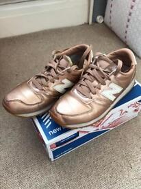 Size uk 4 new balance rose gold trainers