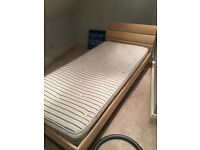 Single bed. Light wooden frame, excellent quality, very good condition