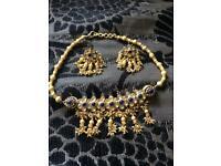 Gold plated Asian choker set