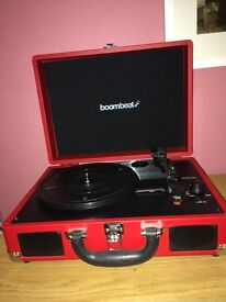 Red boombeat turntable