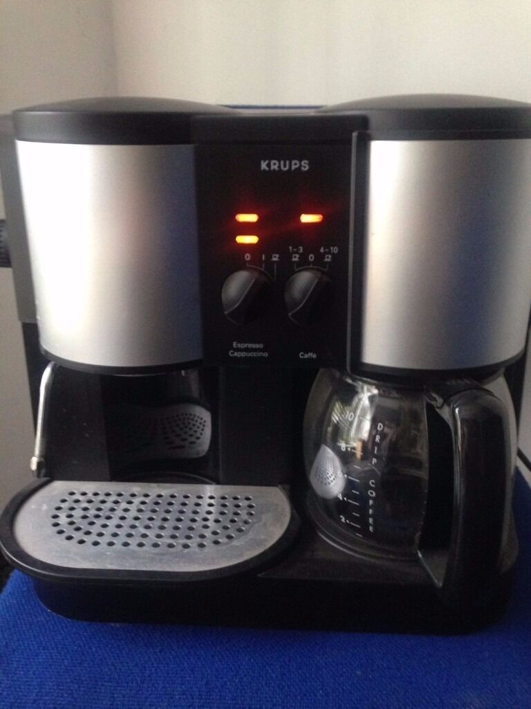 coffee machine krups 874 coffee maker in nottingham city. Black Bedroom Furniture Sets. Home Design Ideas