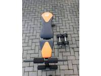 Galant weight bench & 15kg dumbbells