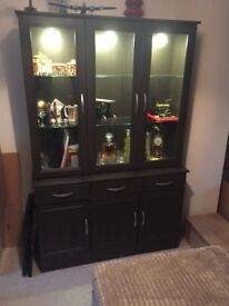 Matching bookcase and tv Stand in dark oak