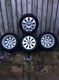 """Brand New Audi 16"""" wheels with tyres 5x100"""