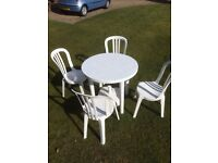 Patio garden table & chairs