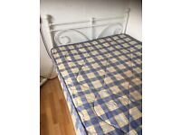 used small double bed and matress