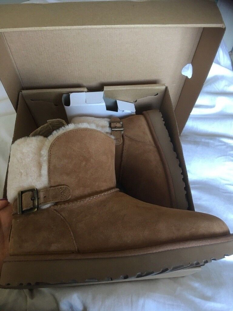 368aa96d0a0 UGG boot - W Karel ankle boot fur buckle woman Tan winter 2018 UK size 7.5  | in Leicester, Leicestershire | Gumtree