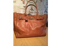 Large authentic tan Mulberry handbag