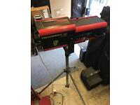 PSL follow spot light with flight case and stand