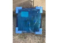 Brand new triple Glazed bathroom windows no frames size 1x 420x430& 2 at 701x343mm
